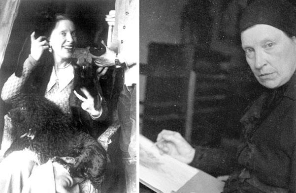 Hedwig Woermann in den vierziger Jahren (links) und 1953